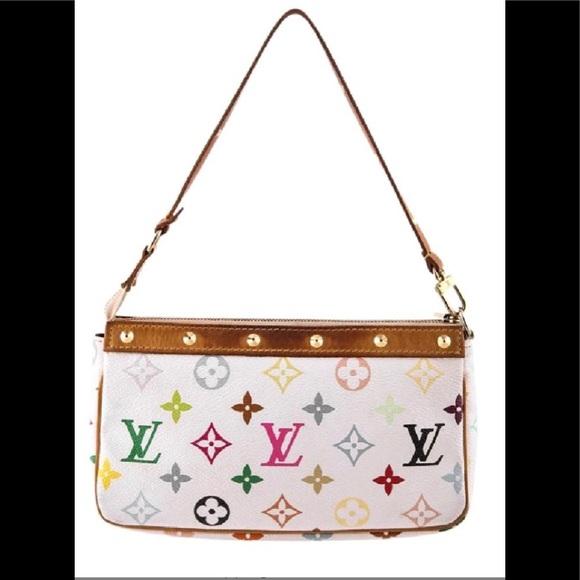 5fcccdd567f3 Louis Vuitton Handbags - Louis Vuitton White Small Murakami pochette